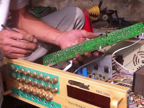 Sửa amply bị nghẹt tiếng tại trung tâm An Khang uy tín số